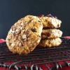 Coffee Cake Oatmeal Breakfast Cookies with Goji Berries