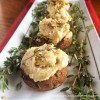 Vegan Cheese Stuffed Mushrooms
