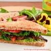 Portobello Mushroom Vegan BLT Sandwich