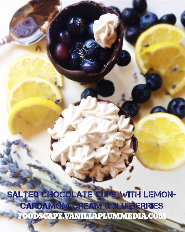 Chocolate Blueberry Creams Dunmore Candy Kitchen: Salted Chocolate Cups With Lemon-Cardamom Cream And